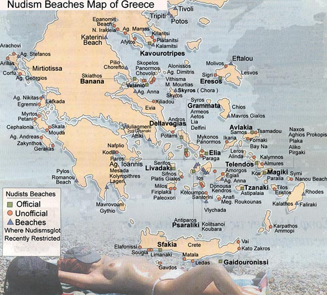 greek nude map