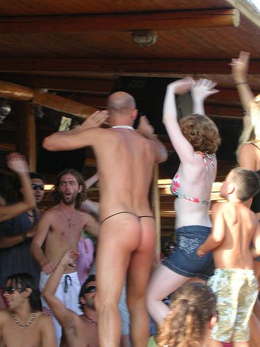 Beach parties nude, christine lamasters naked